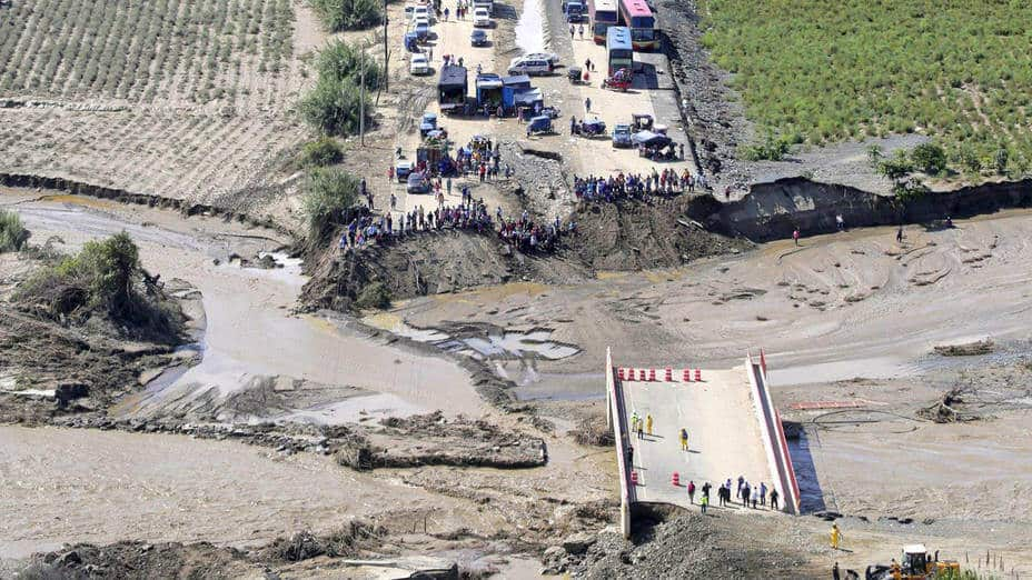 Collapsed Huambacho Bridge