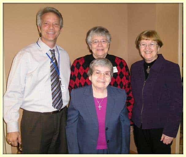 Pictured: Steve Fuller with founding Sisters of Sisters Care
