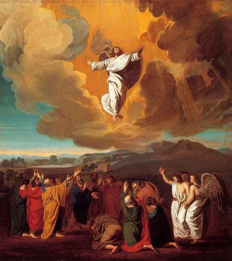 """God goes up amid trumpet blasts! Hosanna in the highest!"" | John Singleton Copley, The Ascension, 1775"