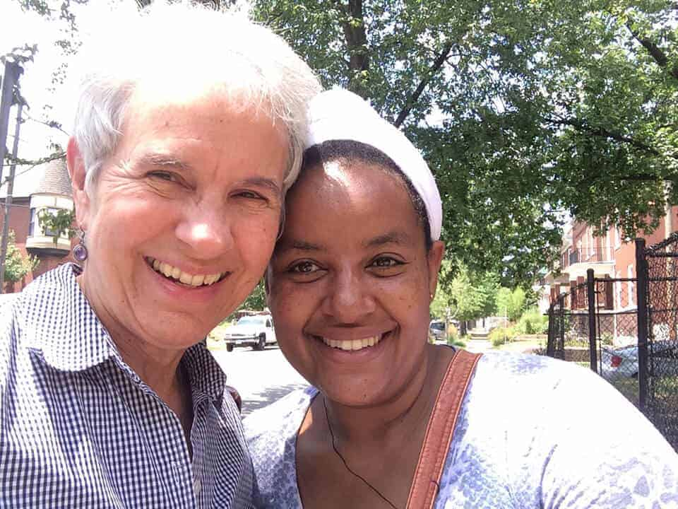 Sister Cathy Vetter and Eyerusalem