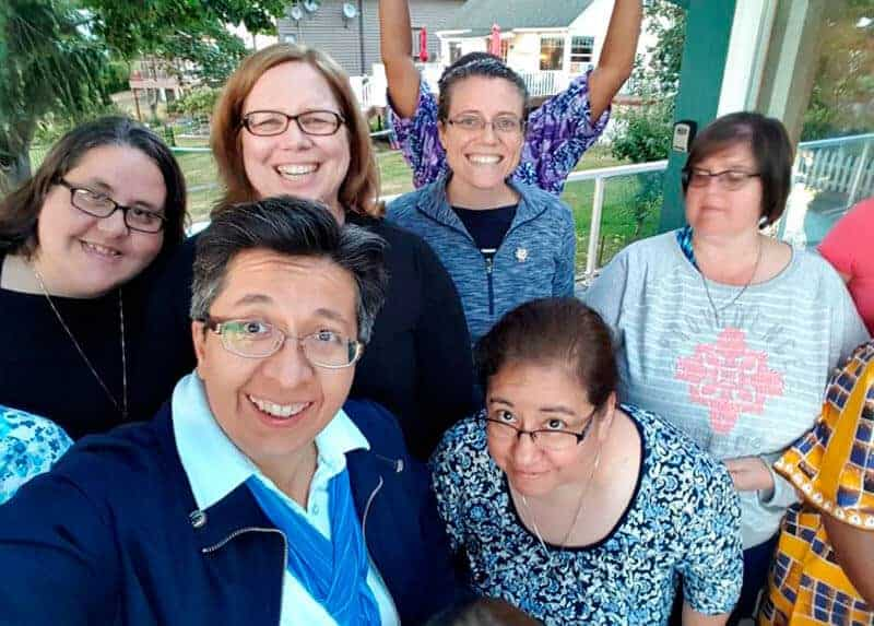 Sister of Charity of the Incarnate Word Teresa Maya, front left, with fellow women religious at a Giving Voice retreat in Seattle in 2014Sister of Charity of the Incarnate Word Teresa Maya, front left, with fellow women religious at a Giving Voice retreat in Seattle in 2014