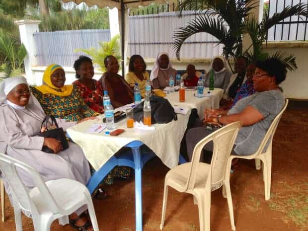 Planning session for workshops intended for the Hekima Opportunity for Women Group