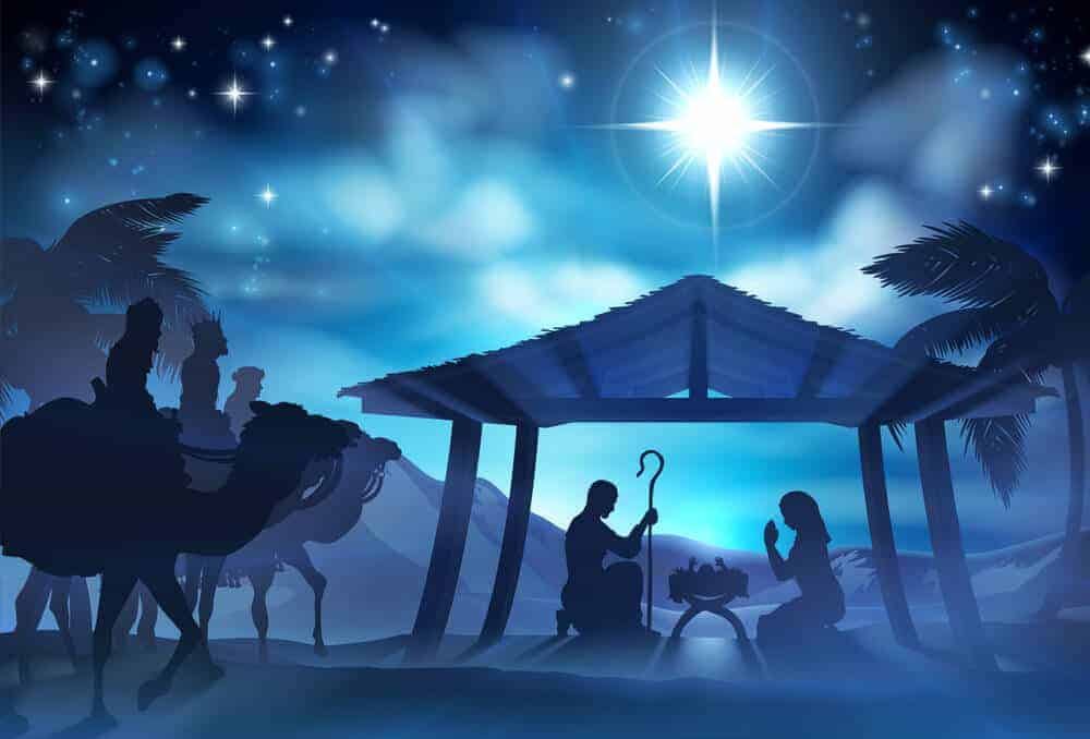 The Three Kings From the East Visit Baby Jesus