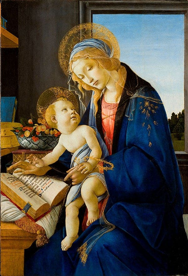 Sandro Botticelli - The Virgin and Child (The Madonna of the Book)