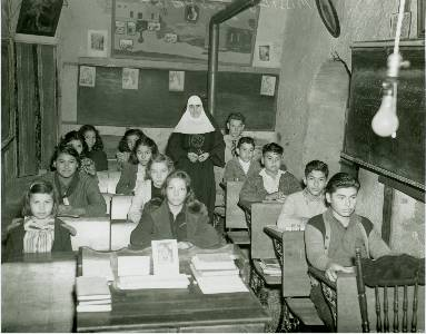 This photograph of Espada School students and Mother Alma Neilan, 1941, is in the room, which it shows. This classroom is now the Mission Espada museum. The Missions are UNESCO World Heritage Sites https://www.nps.gov/saan/index.htm (Photo: Archives of the Sisters of Charity of the Incarnate Word)