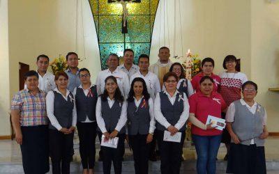 Consecration of collaborators in San Ángel