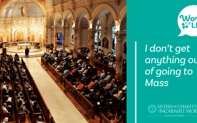 """I don't get anything out of going to Mass"""