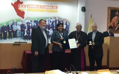 Recognition at the Episcopal Conference of Peru
