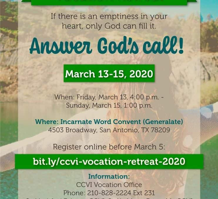 Vocation Retreat, March 2020