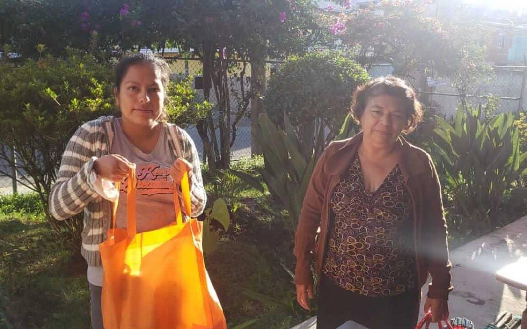 Despensas a familias en Veracruz